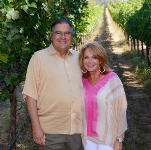 Owners Bob and Renee Stein enjoying the vineyards